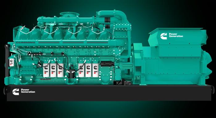 Cummins large generator equipment.