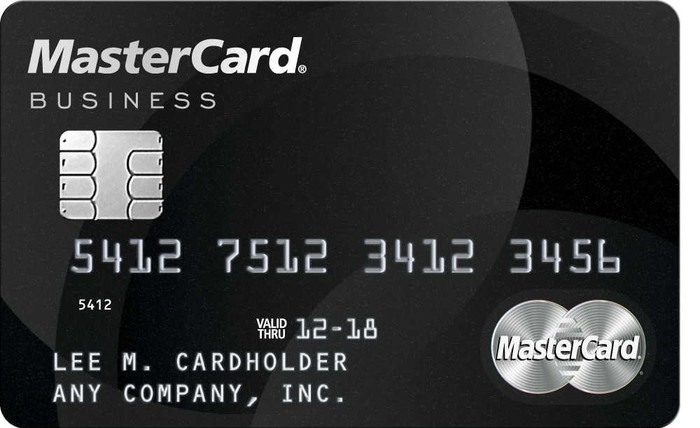 MasterCard business card.