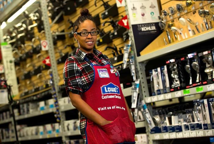 A Lowe's employee