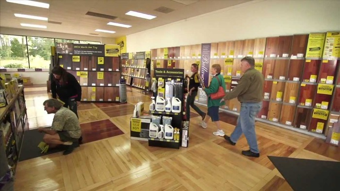 Customers inside a Lumber Liquidators store.