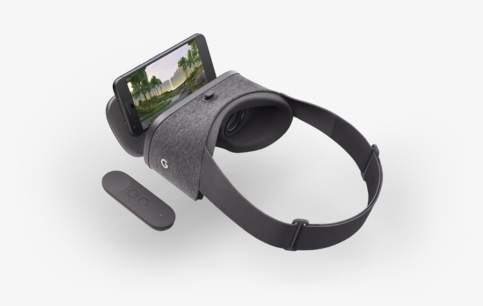 Daydream View headset and controller.