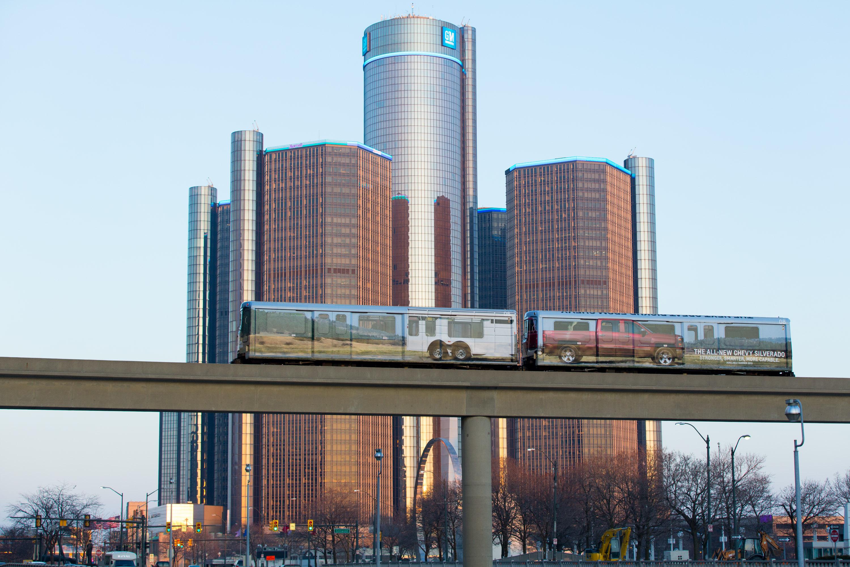 General Motors' HQ in Detroit, MI.