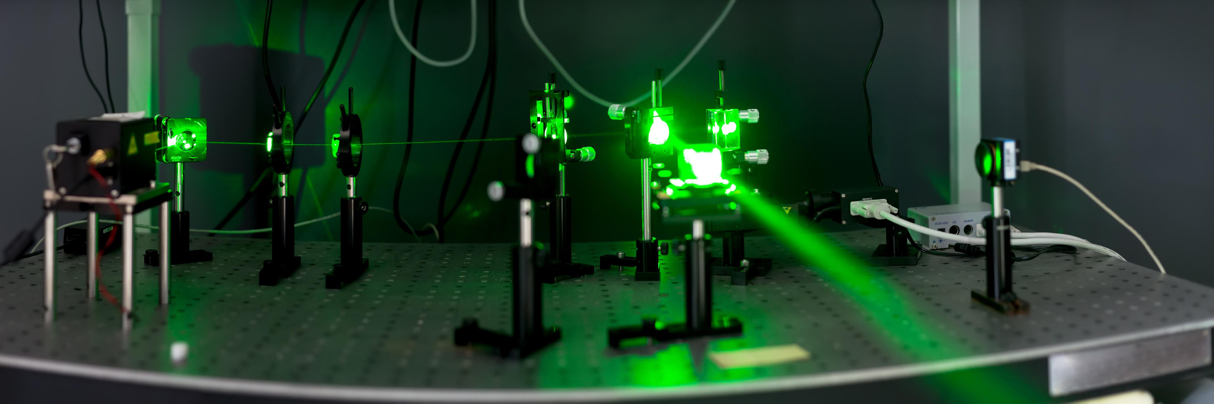 Green fiber laser.