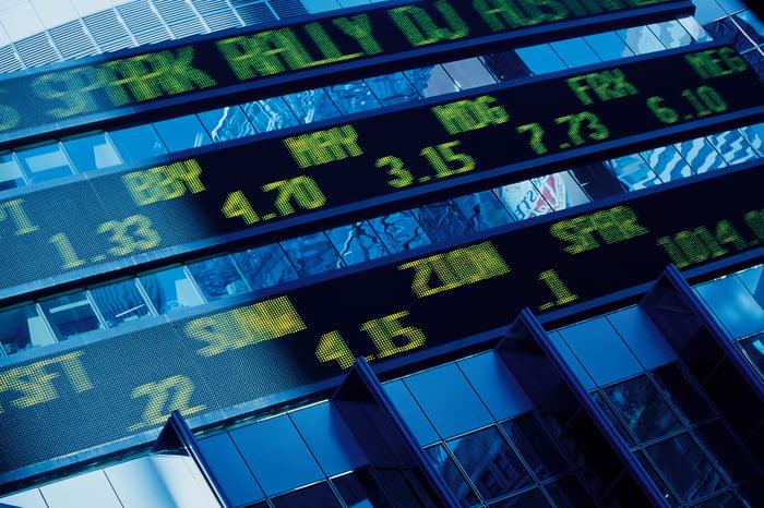 Stock Market (Digital market listings).
