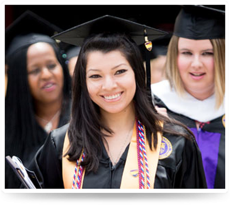 A group of graduates at Ashford University