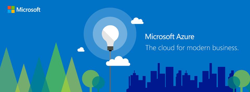 A promotional image of Microsoft Azure.