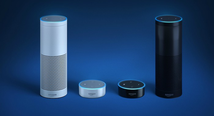 The Amazon Echo and Echo Dot.