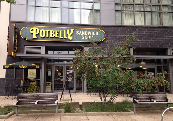 The storefront for a Potbelly sandwich shop