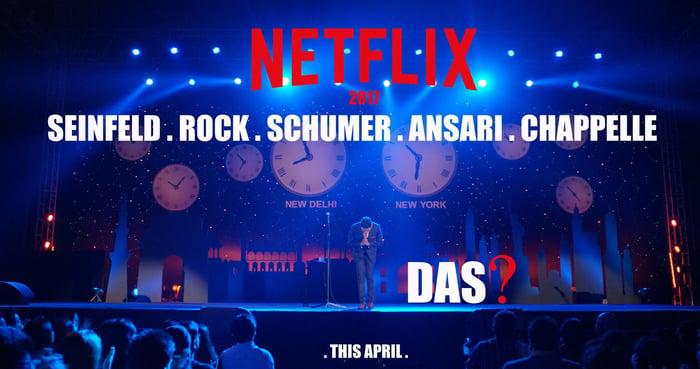 A promotional image of Vir Das' Netflix original.