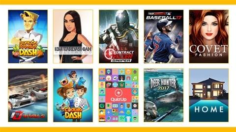 Image showing Glu Mobile's gaming portfolio.