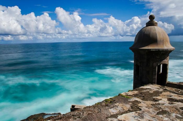 Puerto Rico beach scene.