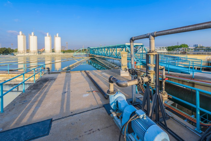 A wastewater treatment facility