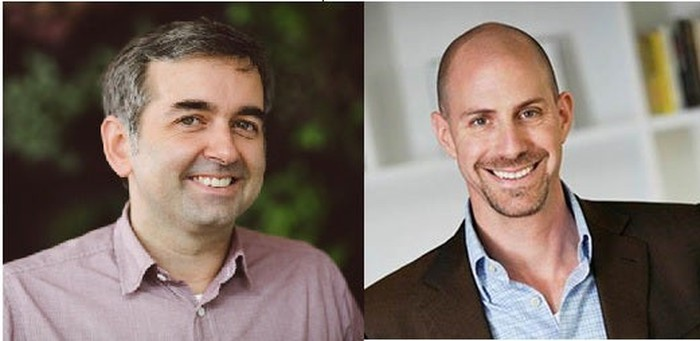 On the left is photo of Chad Dickerson, on the right the new CEO Josh Silverman.