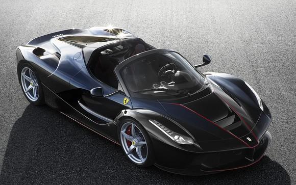 A black LaFerrari Aperta Hypercar.