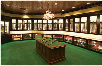 A Cabela's gun library