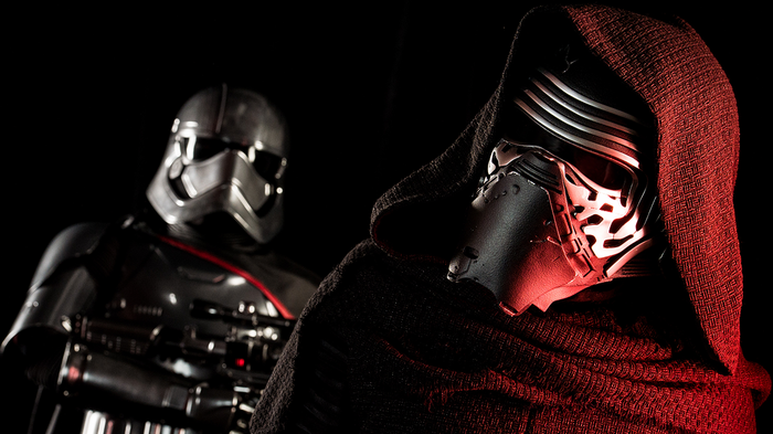 Kylo Renn and a Stormtrooper from Star Wars