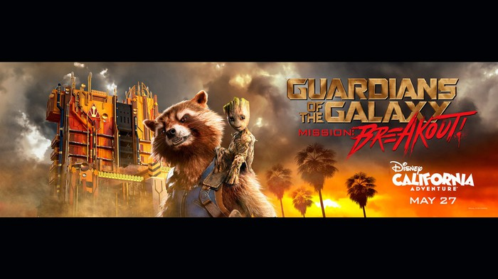 Guardians of the Galaxy ride at Disney's California Adventure.