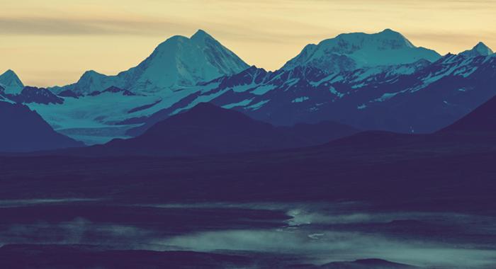 Mountains in Alaska.