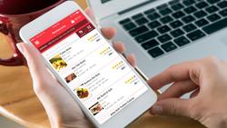 The GrubHub mobile app