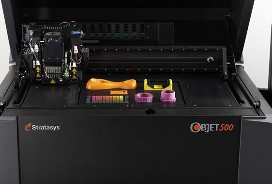A Stratasys Objet Connex industrial 3D printer.