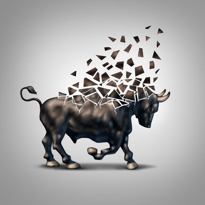 Fragile bull.