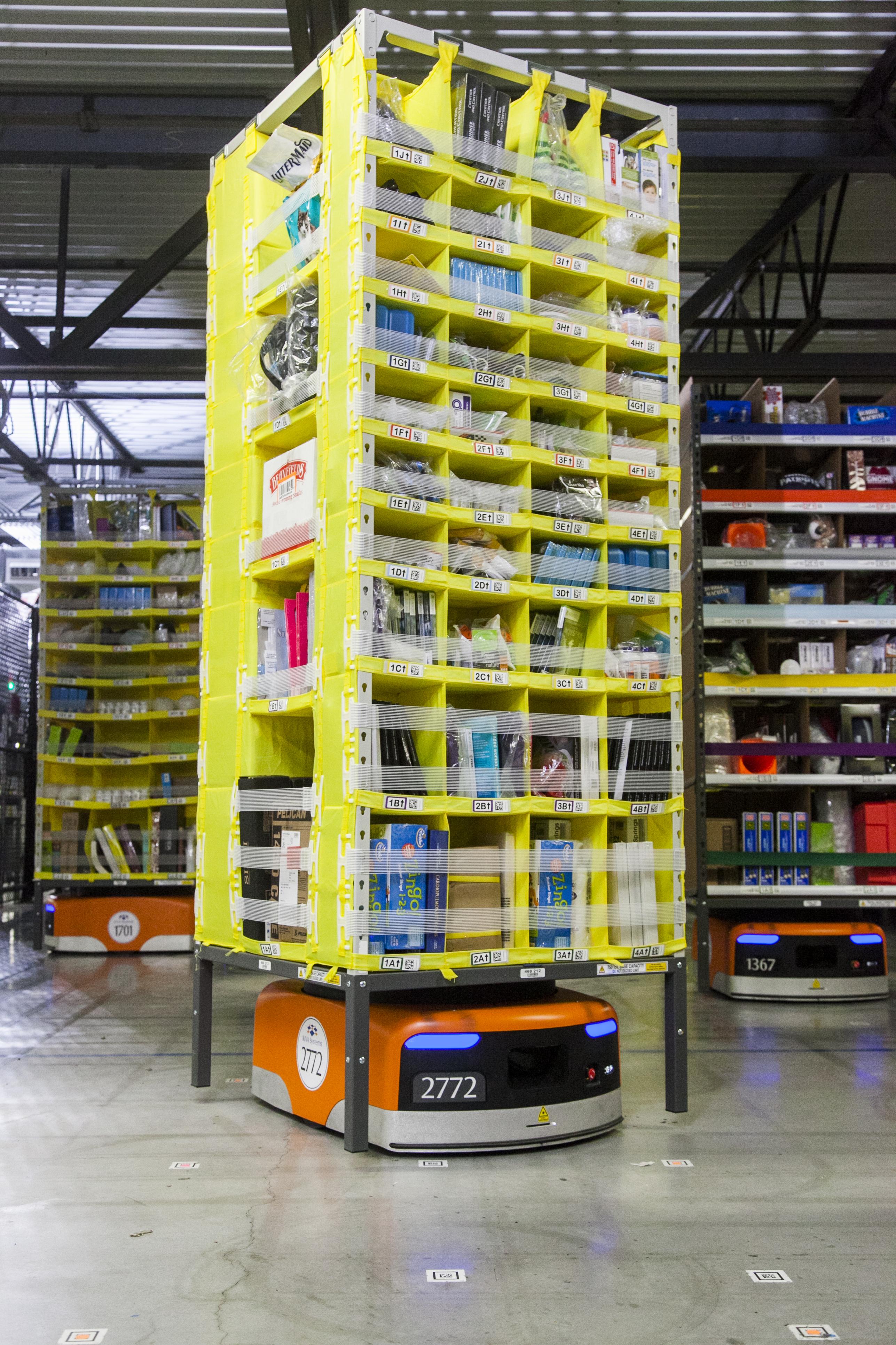 Kiva robot in an Amazon Fulfillment Center