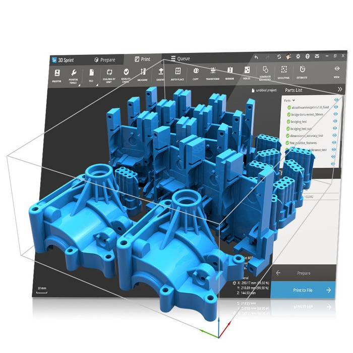 Rendering of a 3D part on CAD.