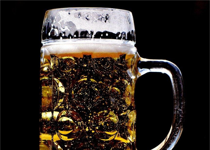 A frosty mug of beer.