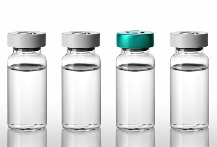 Ampoules of insulin.
