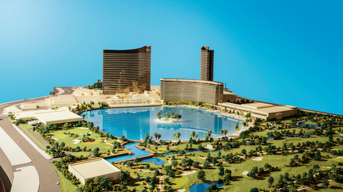 Wynn Resorts' initial renderings of Paradise Park.