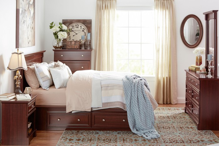 Room furnished with Wayfair products.