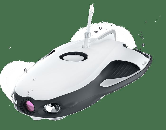 An underwater drone.