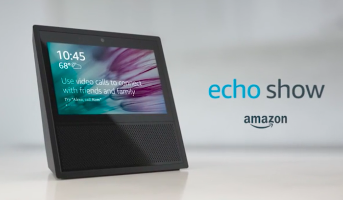 An ad for Amazon's Echo Show.