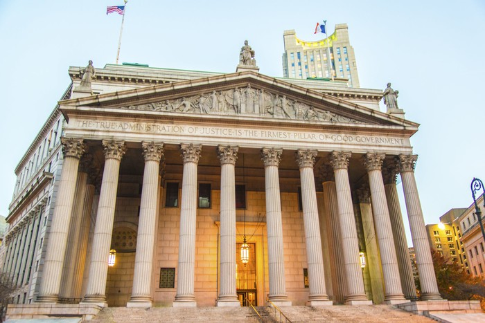 Exterior of a courthouse
