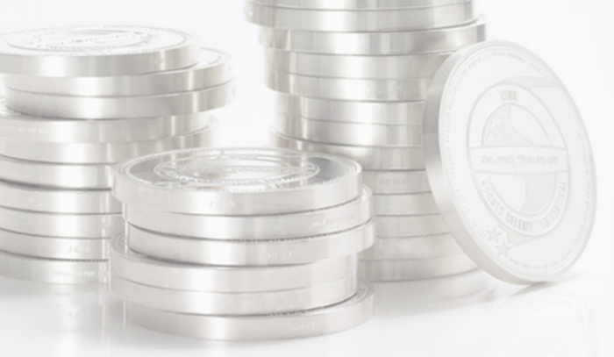 Silver coins.