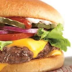 A Wendy's cheeseburger
