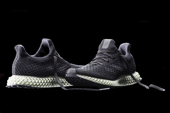 Pair of adidas' Futurecraft 4D running shoes.