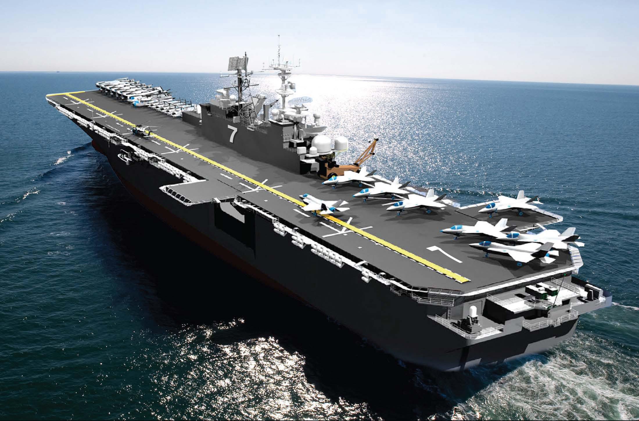 USS Tripoli aircraft carrier.