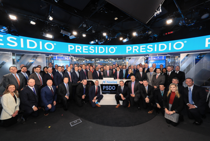 Presidio executives at the company's IPO.
