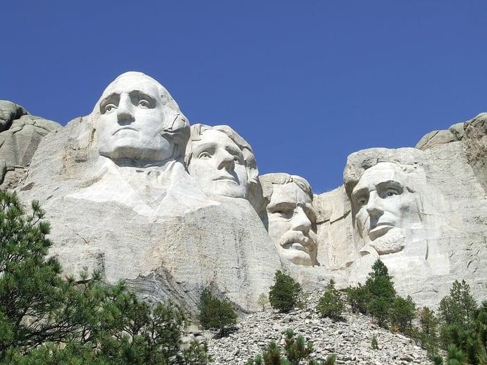 Mount Rushmore, South Dakota.