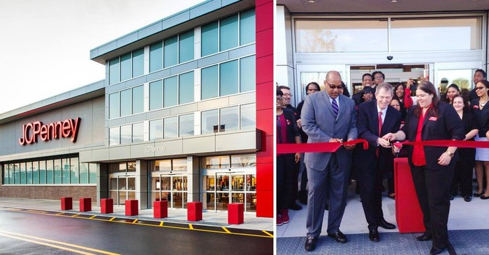 Exterior of a J.C. Penney store opening.