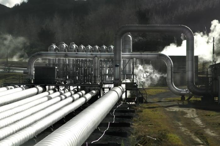 Geothermal pipes