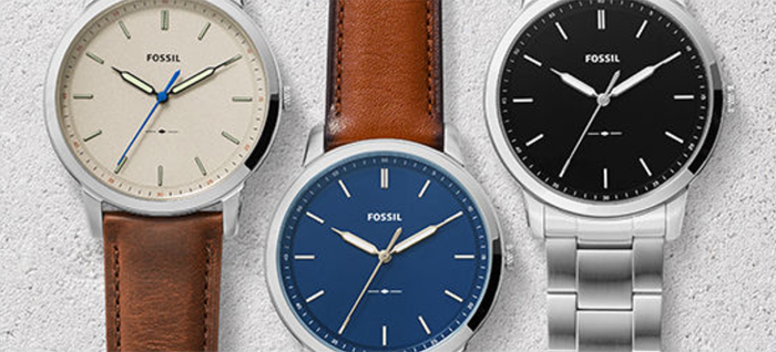 An assortment of Fossil watches
