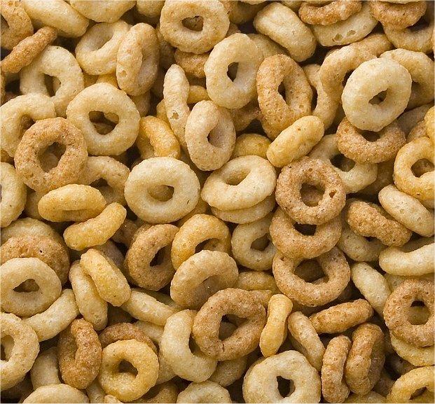 Cheerios breakfast cereal.