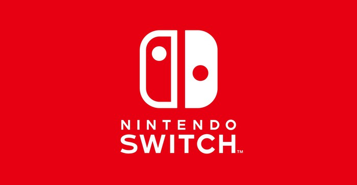 Nintendo Switch logo in red and white.