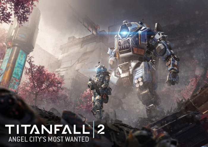Soldier in iron-clad suit followed by giant iron robot.