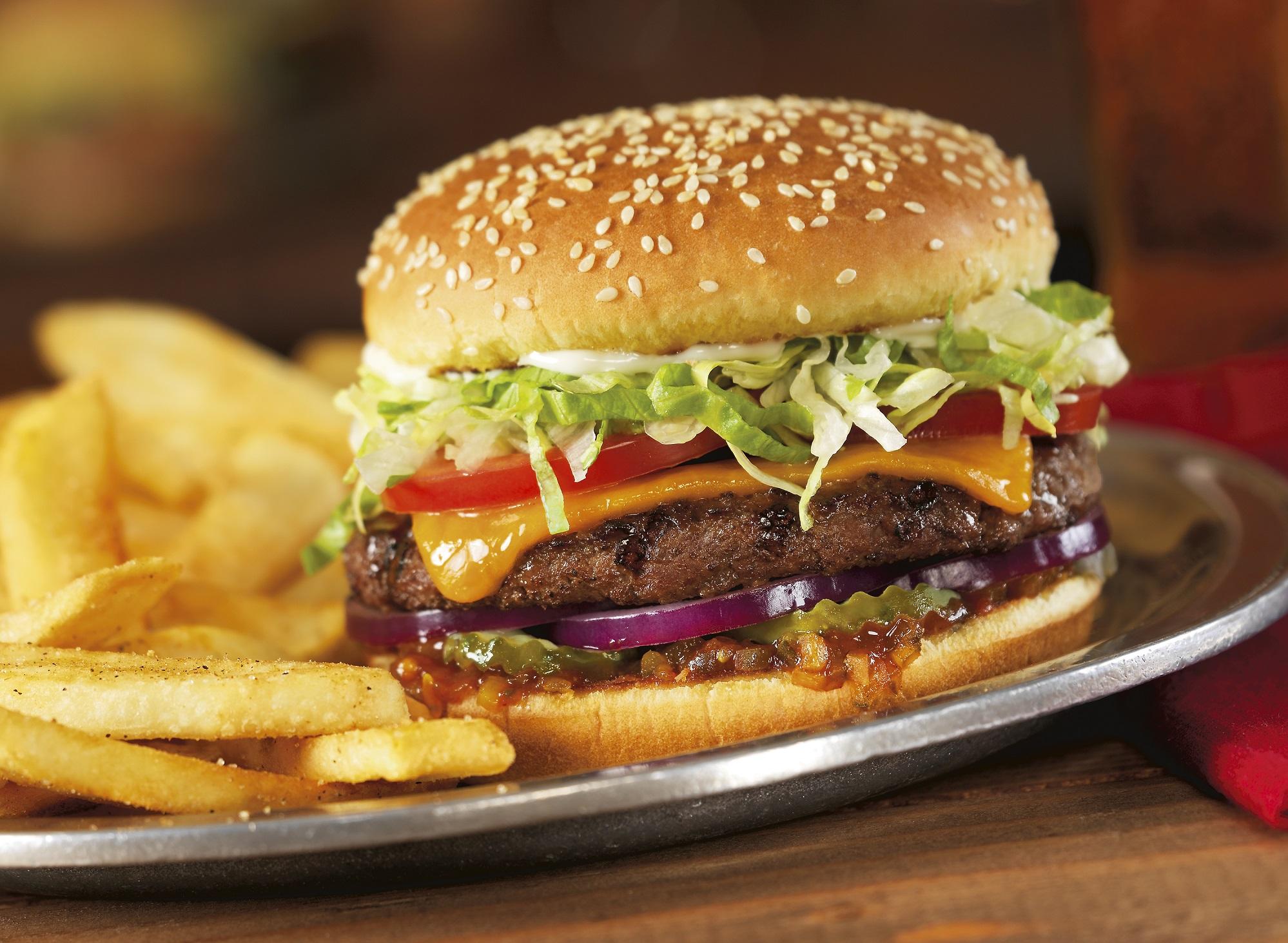Red Robin cheeseburger