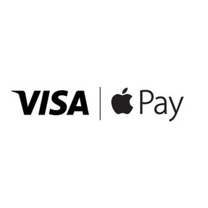 Visa/Apple Pay logo.