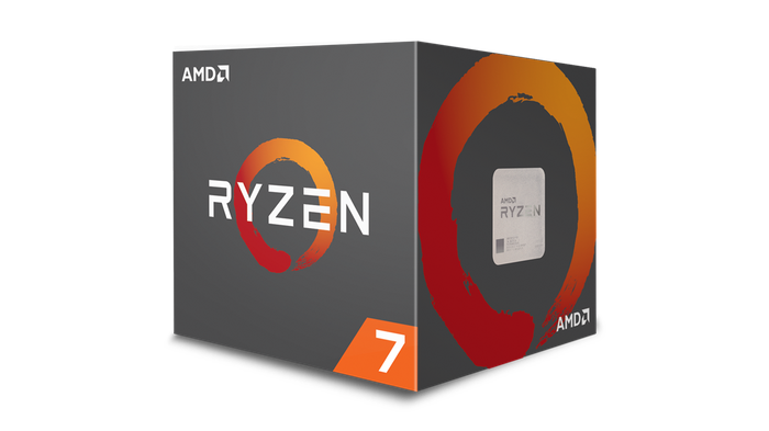 A boxed Ryzen 7 CPU.