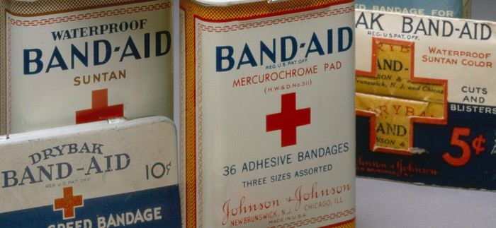 Vintage Band-Aid packages.